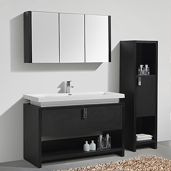 LIVORNO Series Bathroom Vanity, side cabinets, mirror cabinets