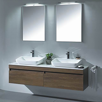 bathroom cabinet with double sink