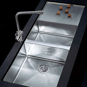 stainless steel sink, linear sink, kitchen sinks