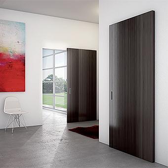 sliding wooden doors, hanging wooden doors, mutli-panel wooden drag doors