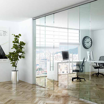 frameless wall partitions