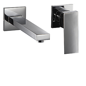 32-199-CR, Single Lever Concealed Washbasin Mixer, Wall Lavatory