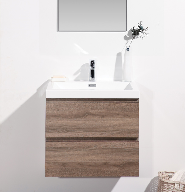 bathroom vanity with matching mirror