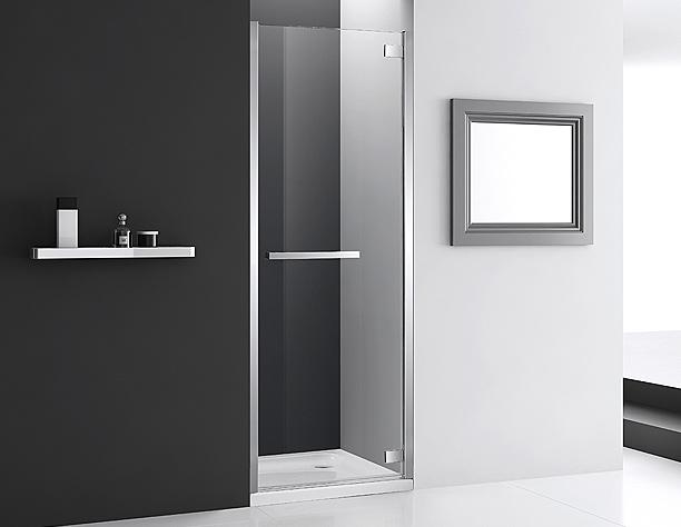 hinged shower door, swinging shower door, shower enclosure, glass shower, bathroom shower, shower, shower frame, shower remodeling, bathroom renovation, bathroom remodeling, modern shower
