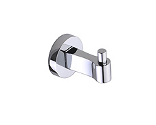 Concealed, surface mounted polished chrome hook.  Lifetime warranty and mounting hardware is included.