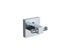 Concealed, surface mounted polished chrome double hook.  Lifetime warranty and mounting hardware is included.