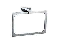 Polished chrome single towel bar with concealed surface mounting and lifetime warranty that comes in both 18 and 24 inch models.