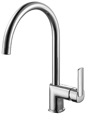kitchen faucet, single lever sink mixer, single lever multi function, ceramic disk cartridge, braided supply lines, polished chrome faucet, UPC certified sink, one-handle high arc kitchen faucet, chrome faucet