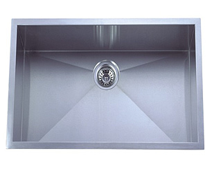 stainless steel sink, kitchen sink, laser welded sink, undermount sink, centre drain sink, kitchen plumbing fixtures, UPC approved sink