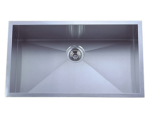 stainless steel sink, single sink, oversized kitchen sink, laser welded sink, undermount sink, centre drain sink, kitchen plumbing fixtures, UPC approved sink, matt finish sink