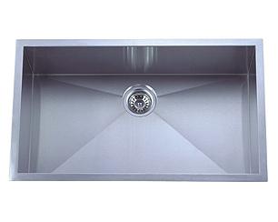 stainless steel sink, single sink, oversized kitchen sink, laser welded sink, undermount sink, centre drain sink, kitchen plumbing fixtures, UPC approved sink, matt finish sink