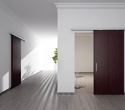 Sliding Systems for Wood Doors with Auto Bracket