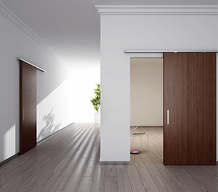 Sliding Systems for Wood Doors with Standard Bracket