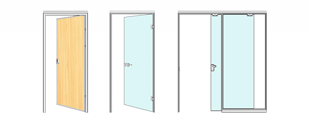 wall partition door selection
