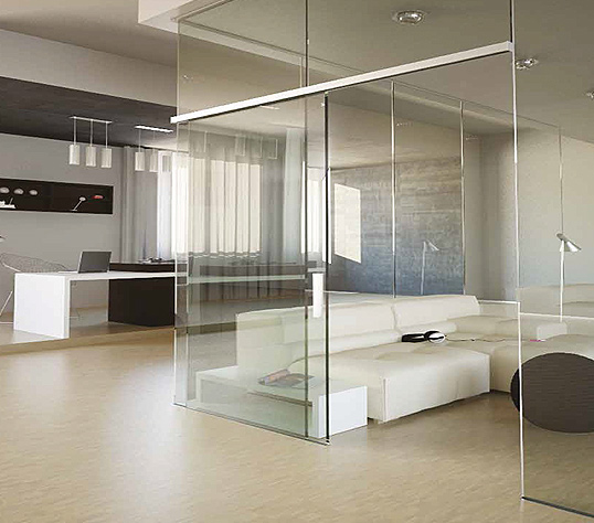 Micro40fix linear interior systems Interior glass partition systems